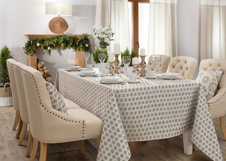 Customised Scandinavian style tablecloth made to order and to size in only 5 working days.