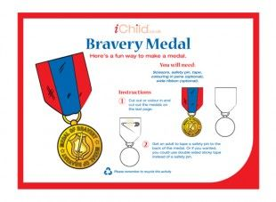 This bravery medal craft activity isreally simple to make. Plus, you can use either thedecoratedtemplateprovided, or let your child design one themself!