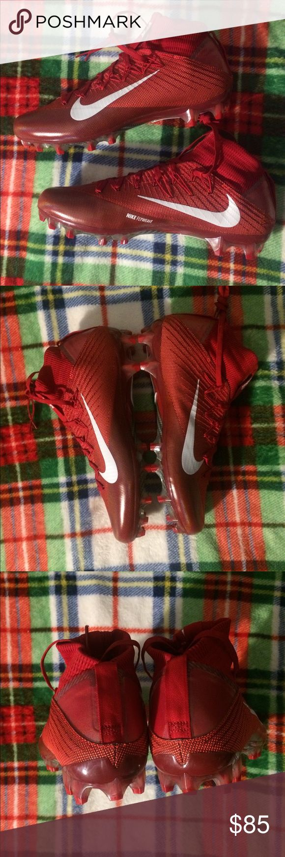 Nike Vapor Untouchable 2 Football Cleats Brand new, never worn. Super high quality football cleats. Men's size 12.5. Great price for a rare size, and a super cool colorway to boot. Nike Shoes Athletic Shoes