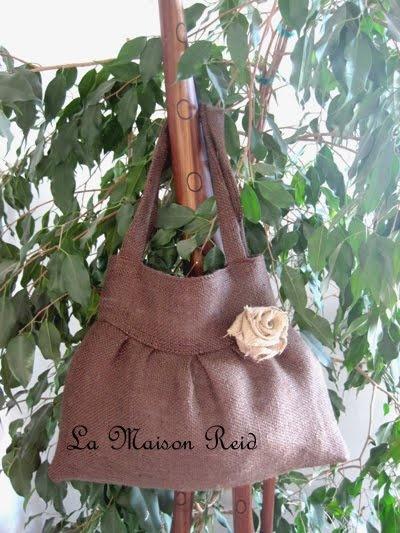 popular purse tutorial, How to make a burlap purse, make a burlap tote
