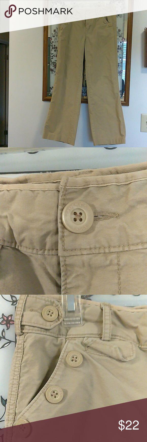 Selling this American Eagle khaki trousers on Poshmark! My username is: lovingmom3176. #shopmycloset #poshmark #fashion #shopping #style #forsale #American Eagle Outfitters #Pants