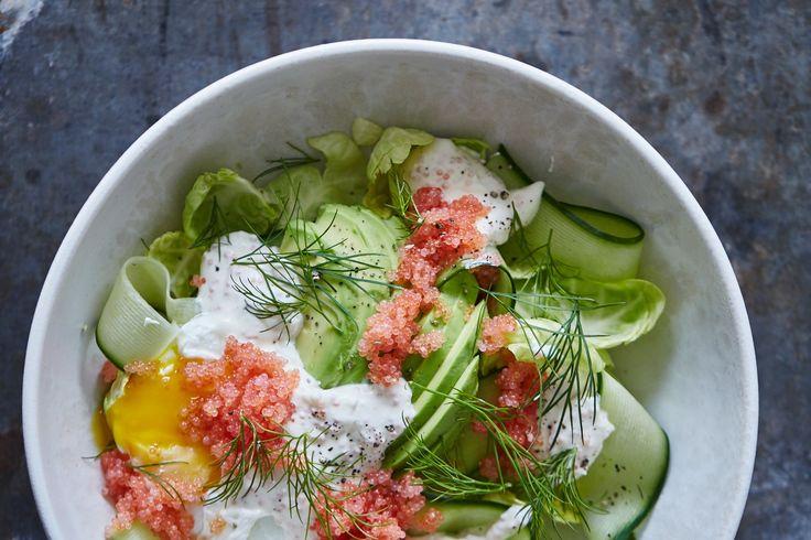 Salat med stenbiderrogn