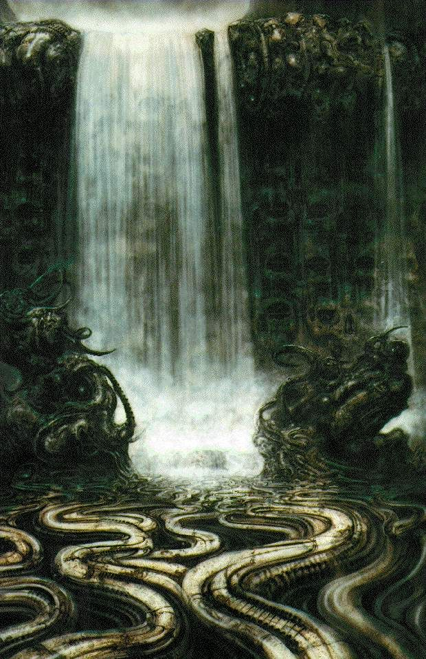 HR Giger - Mechanical waterfall