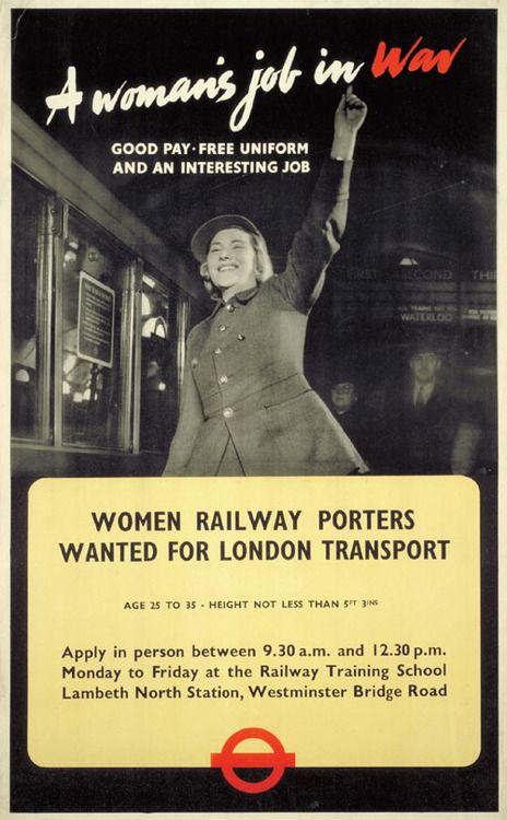 London Transport poster calling for women transit workers, 1941