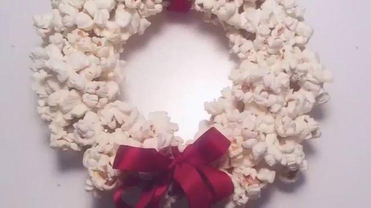 🎄 Новогодний венок из попкорна. 🎉 Гирлянда на ёлку своими руками. Елочны...