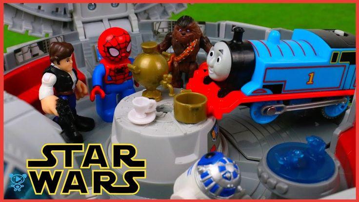 Star Wars Spielzeuge Han Solo trifft auf Thomas und Spiderman Star Wars ...