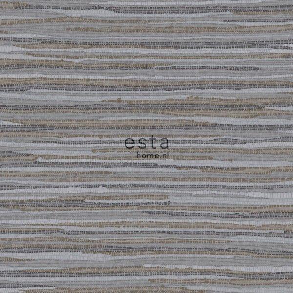 148619 krijtverf eco texture vliesbehang geweven motief donker bruin