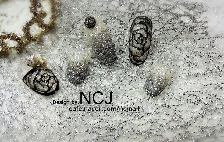 [NCJ 엔씨제이네일 아트] STEP BY STEP NAIL ART 19회 (샤인 블랙로즈)