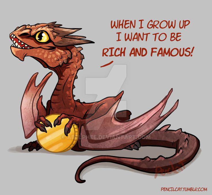 Baby Dragon's Dream - Smaug by AbelPhee.deviantart.com on @DeviantArt