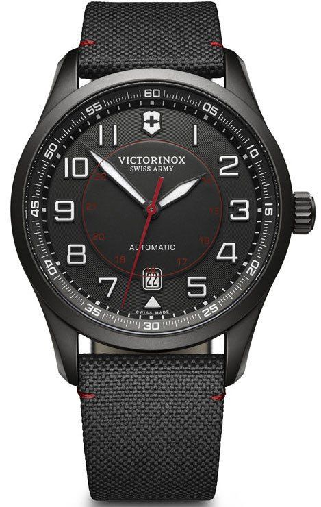 Victorinox Swiss Army Watch AirBoss Mechanical #2015-2016-sale #add-content #bezel-fixed #black-friday-special #bracelet-strap-synthetic #brand-victorinox-swiss-army #case-material-black-pvd #case-width-42mm #classic #date-yes #delivery-timescale-call-us