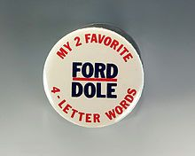 Ford/Dole election pin.