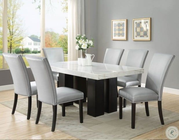 Camila Espresso Rectangle Dining Table In 2021 Rectangle Dining Table Dining Table Marble Rectangle Kitchen Table