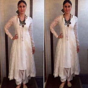 Inspired by Kareena Kapoor Khan all white etnic looks for summer