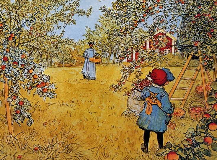 Carl Larsson Apple Orchard De Artists Art Might