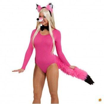 Kostüm Fuchs, Set 4-tlg. pink-schwarz kaufen