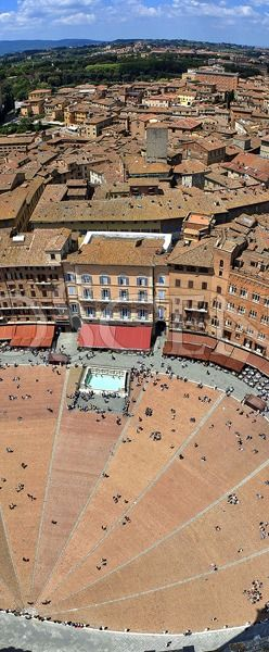 Fisheye view above Siena. Click through the link to view a more detailed image.
