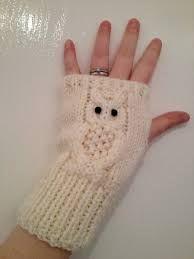 owl fingerless gloves knitting pattern free - Google Search