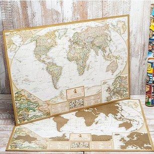 A scratch map of the world. | 18 Gifts For Anyone With A Heart Full Of Wanderlust