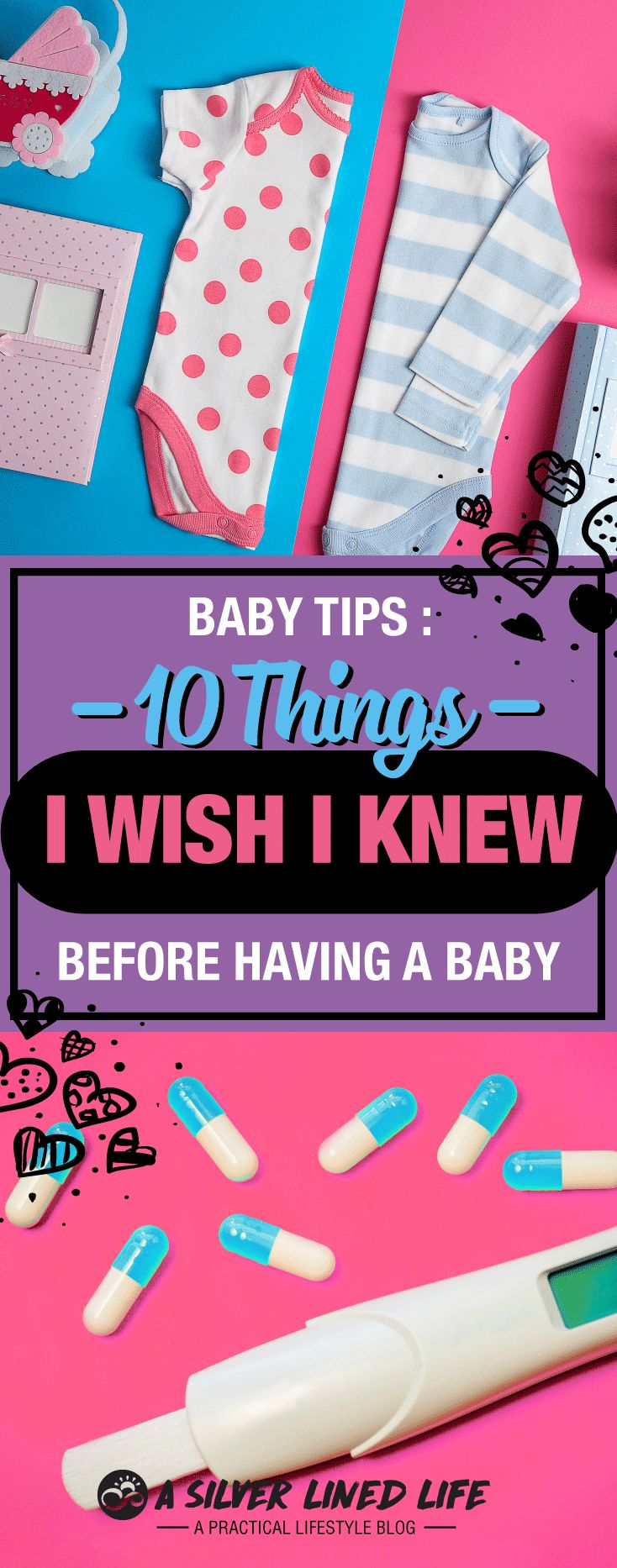 "Baby Tips For New Moms: 10 Things I Wish I Knew Before Having a Baby. I took ""preparing for baby"" classes and I still wish I had known these things!"