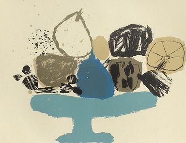 "Rosemary Vanns - "" Mixed Fruit on a Plate Stand"" (2nd Edition), Screenprint, Image Size 50 x 40cm, Edition of 15"