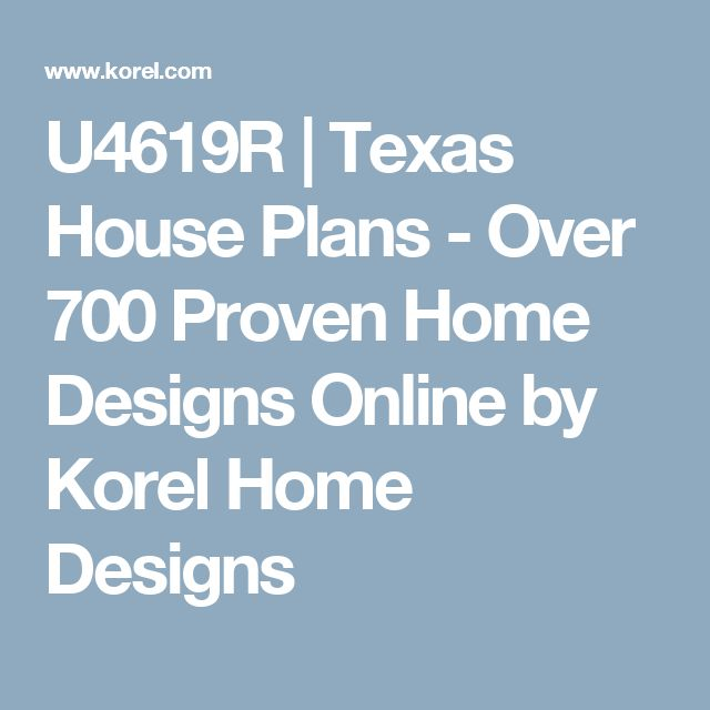 As 25 melhores ideias de texas house plans no pinterest for Korel home designs online