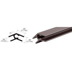 C.R. LAURENCE D7117DU CRL Dark Bronze Aluminum 45 Degree Upright Extrusion by CR Laurence. $99.89. Color: Dark Bronze Thickness: .080 (2.03 mm) Length: 12 Ft (3.66 m) Packing Charge: $7.00 for orders of fewer than 10 stock length of extrusions Top Quality Aluminum Styles to Fit Almost Any Use Our CRL Top Quality Aluminum Extrusions can be used almost anywhere you can imagine a need for them. These extrusions are extremely versatile and are used for both commerc...
