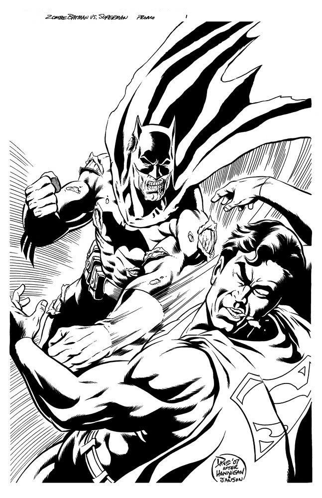 Zombie Batman vs Superman Zombies Superman coloring