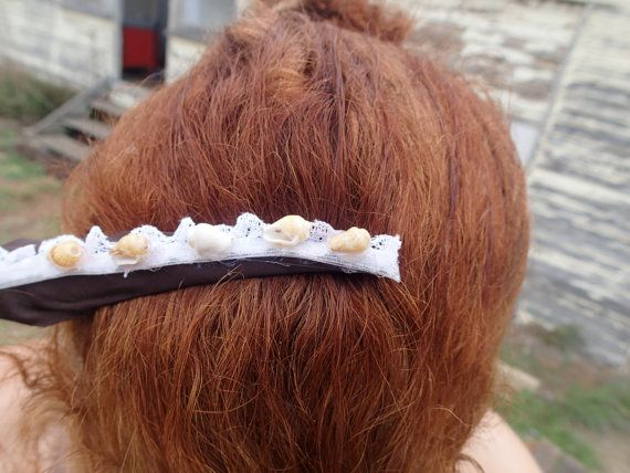 Large beach chic hair clip.Original handcrafted. by SortThePost, $20.00