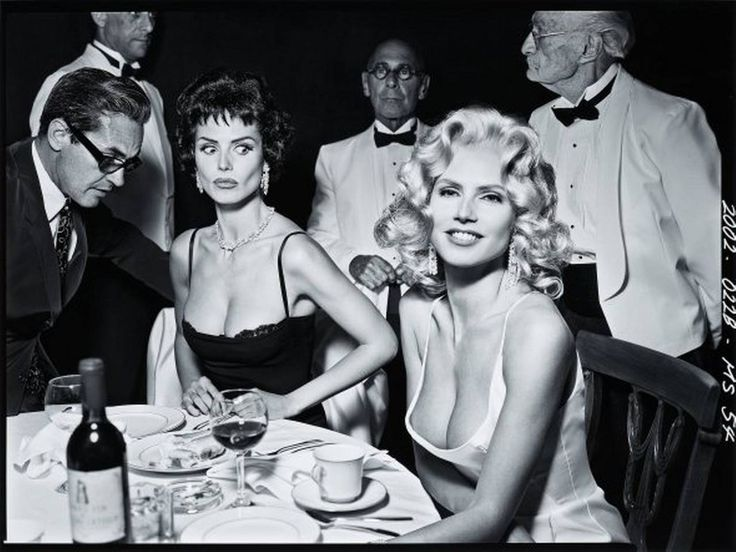 Heidi Klum as Sophia Loren and Jayne Mansfield | From a unique collection of black and white photography at https://www.1stdibs.com/art/photography/black-white-photography/