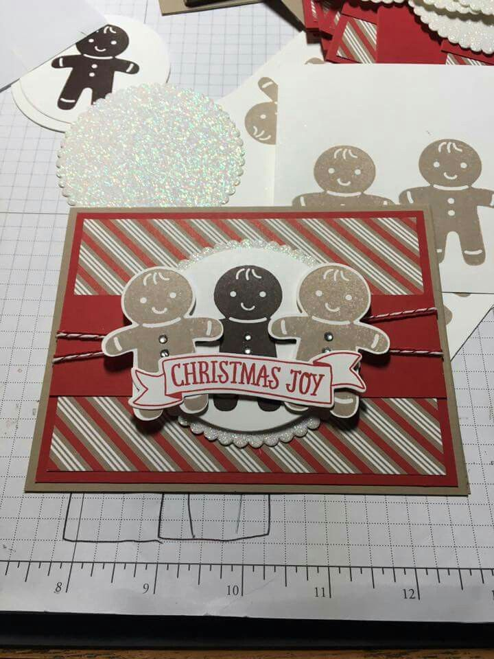 Cookie Cutter Christmas stamp set; Cookie Cutter Builder Punch; Candy Cane Lane DSP; Stampin' Up!