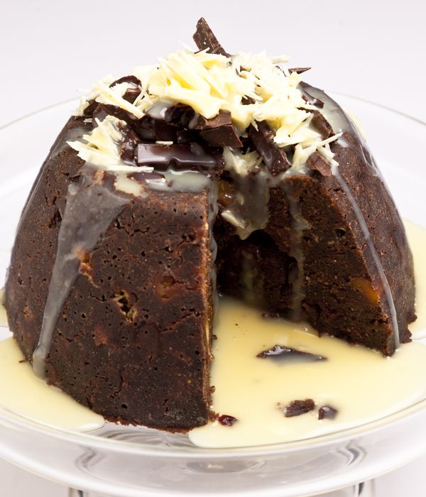 This chocolate Christmas pudding recipe from Paul A. Young is a great twist on the traditional festive dessert, with the inclusion of three forms of chocolate.