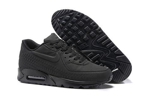 Nike Air Max 90 Embossing Woven Black - $63.95   nikeonlinestore   Scoop.it