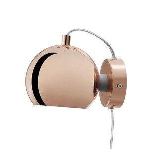 Frandsen Lighting Ball væglampe - kobber  Alternativt denne - køb ved Bahne