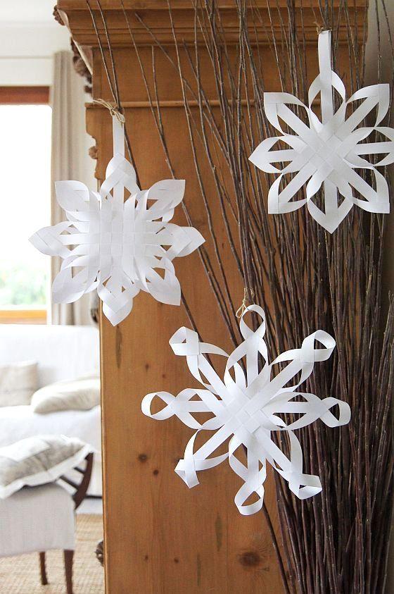 Best 25 3d snowflakes ideas on pinterest 3d paper for Diy paper snowflakes 3d