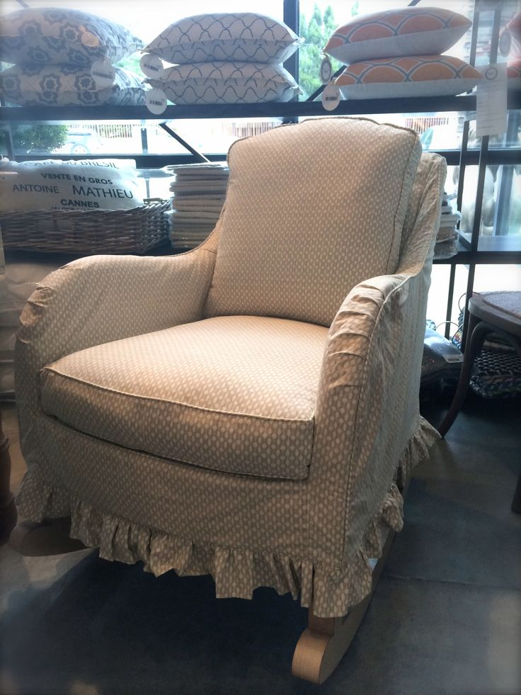 Superb Slipcovered Rocker By LEE Industries At Pearson U0026 Company