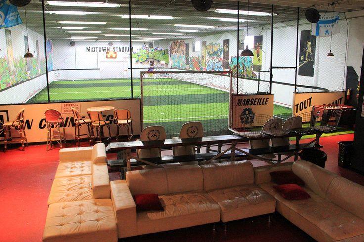 Indoor home turf field