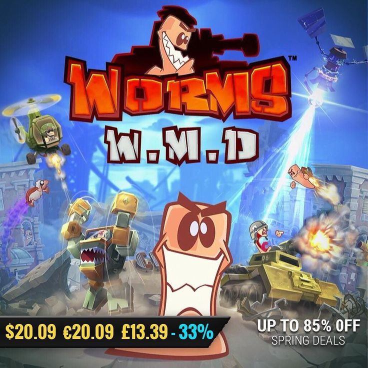 March Spring Sale gamedeals Worms W.M.D (ROW) 033 Off 20