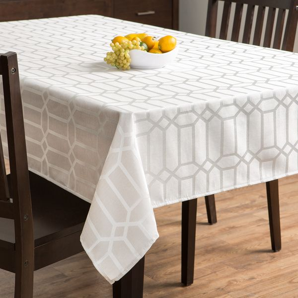 Glimmer Natural Tablecloth