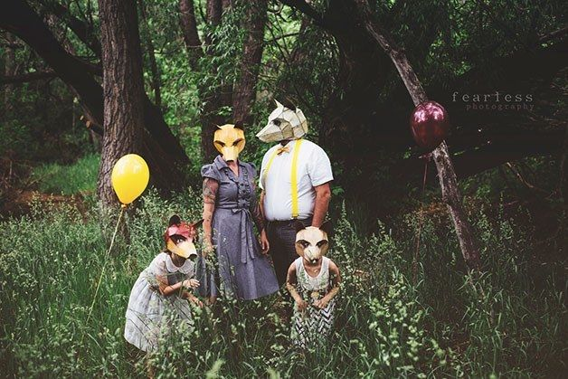 The Fox Family  The 18 Most Stunning 3D Masks Created By A Talented Designer • Page 3 of 5 • BoredBug