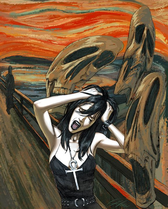 the scream analysis The scream is very unique several aspects of this painting really stick out, the dark color scheme would typically be used for a night setting but here with the scream, edvard munch used.