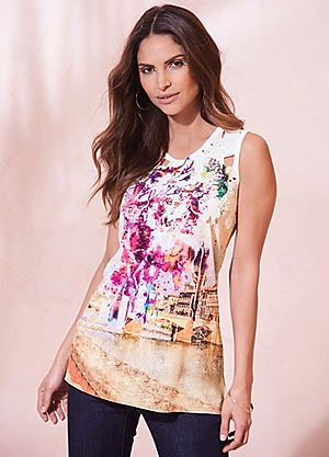 Scenic Print Top #kaleidoscope #new #fashion #spring