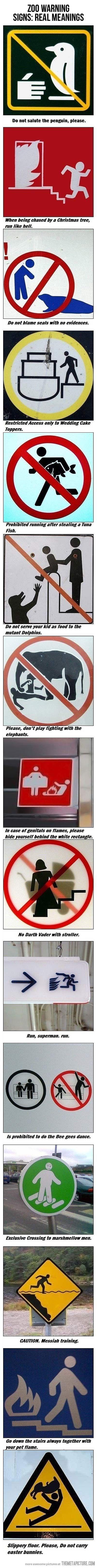 Zoo Warning Signs…