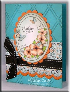 Stamps used:  Dogwood and Butterfly from Gina K. Designs
