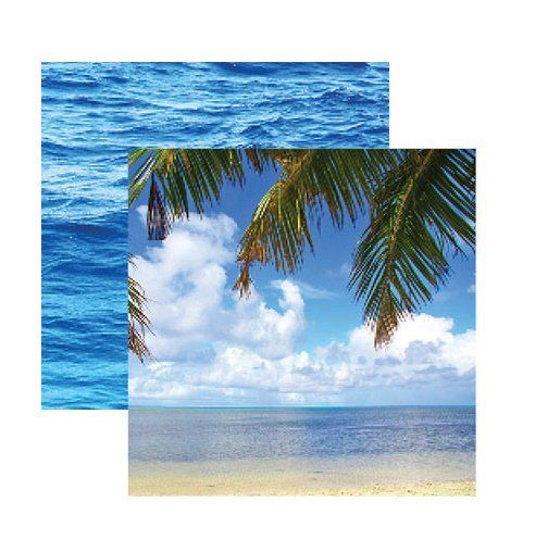 Reminisce+-+Caribbean+Cruise+Collection+-+12+x+12+Double+Sided+Paper+-+Tropical+Dreams+at+Scrapbook.com