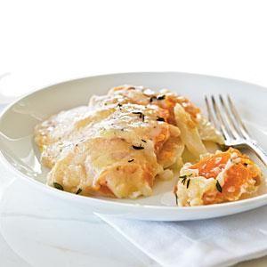 Sweet Potato and Butternut Gratin | MyRecipes.com Sooooo good but requires a lot of prep!