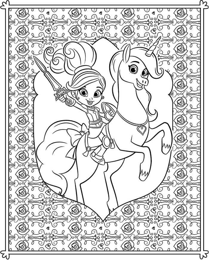 Nella The Princess Knight Coloring Pages Coloring Pages Cartoon Coloring Pages Nick Jr Coloring Pages