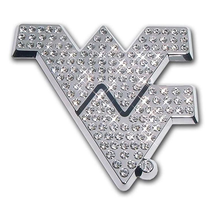 IAmEricas Flags - West Virginia University Crystal Chrome Car Emblem, $35.00 (http://www.iamericasflags.com/west-virginia-university-crystal-chrome-car-emblem/)