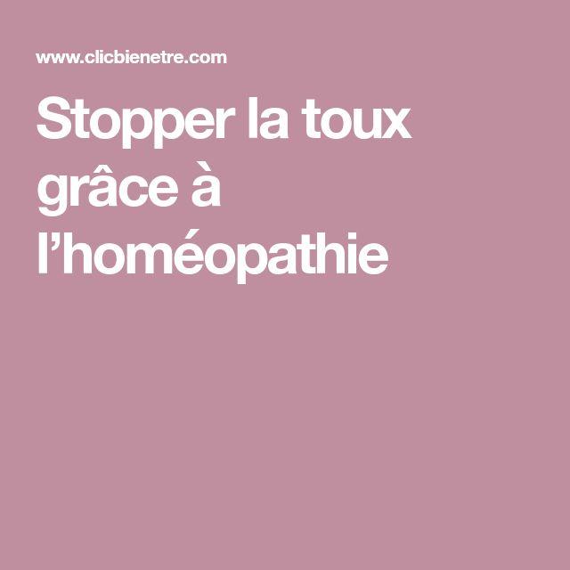 Stopper la toux grâce à l'homéopathie