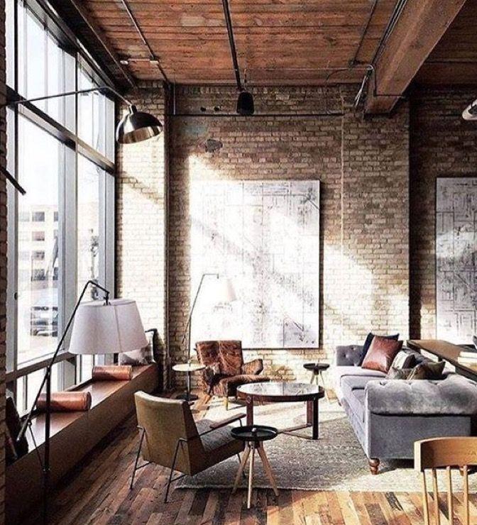 Sanctuaire salon deco deco industrielle poutres briques ma maison pour la maison magasin campagne