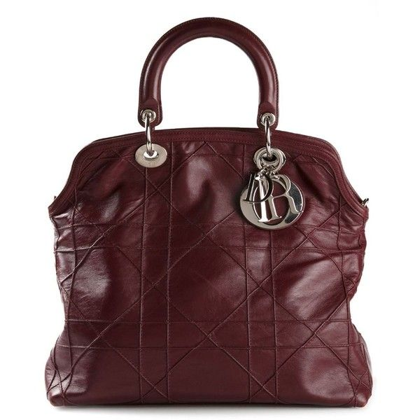 Pre-owned Christian Dior Vintage 'Granville' tote ($4,125) ❤ liked on Polyvore featuring bags, handbags, tote bags, borse, red, zip top tote, leather tote bags, red tote, handbags totes and vintage leather tote bag